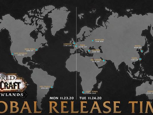 Shadowlands: Hora de lanzamiento en Chile