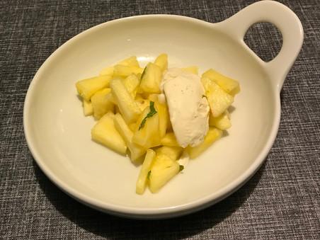 Ananas med chili og lime