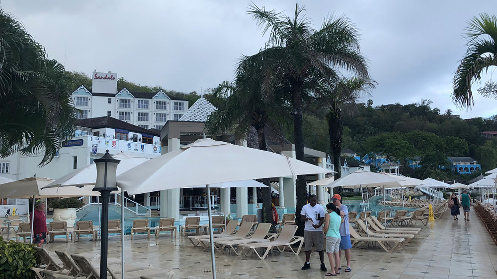 rainy start to our destination wedding, about 8:00AM on our wedding day, Sandals St Lucia La Toc