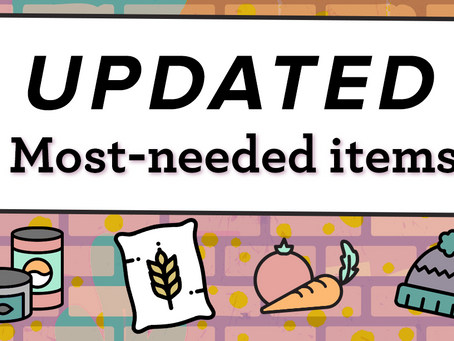 Most-needed items for September 28, 2020