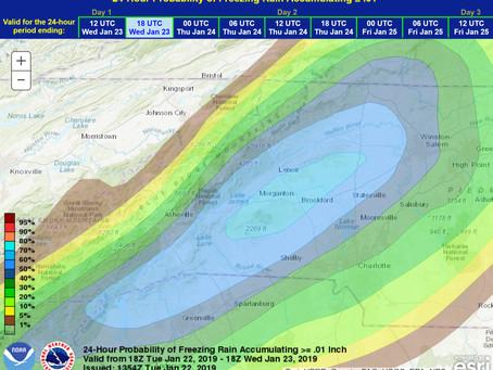 Ice Threat to Flood Threat This Week