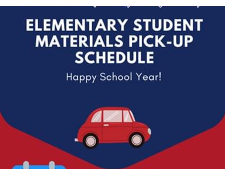 Eanes ISD Elementary Materials Pick Up