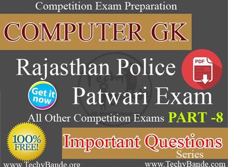 Computer GK - RAJ Police and Patwari Exam Part -8
