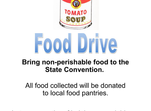 Non-Perishable food sought for State Convention