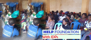 HELP Foundation shares food and non-food items to internally displaced persons in Dschang, Menoua Division - December 21, 2019.
