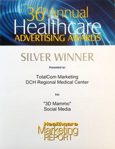 TotalCom wins silver for DCH Regional Medical Center social media