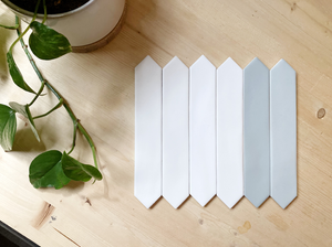 skinny monochromatic picket tile watercolor line