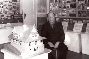 Макет дома, в котором жил  В.И.Ленин, созданный А.И. Тихомировым