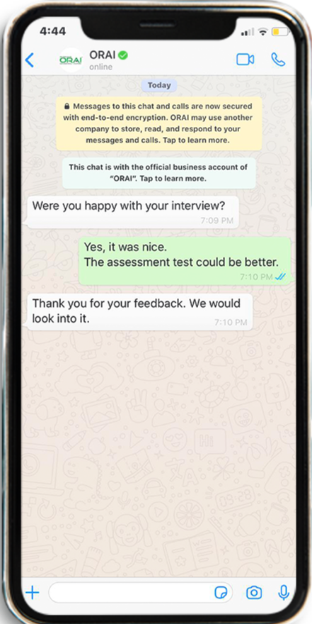 AI Chatbot collecting Interview Feedbacks