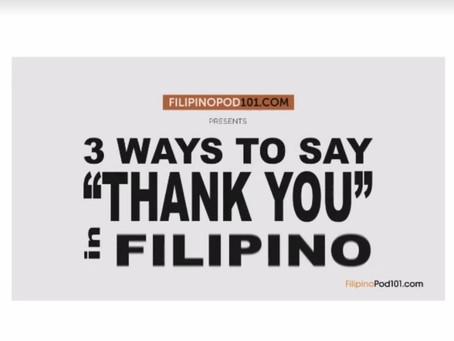 Уроки филиппинского языка. Как сказать спасибо