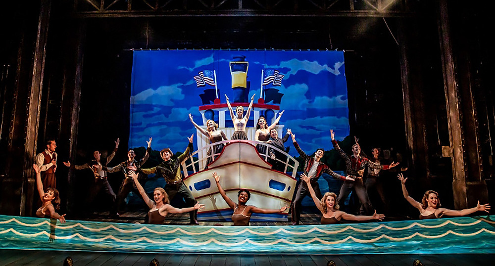 All at sea - the cast of Curtains in a scene-within-a-scene. All pictures: Richard Davenport