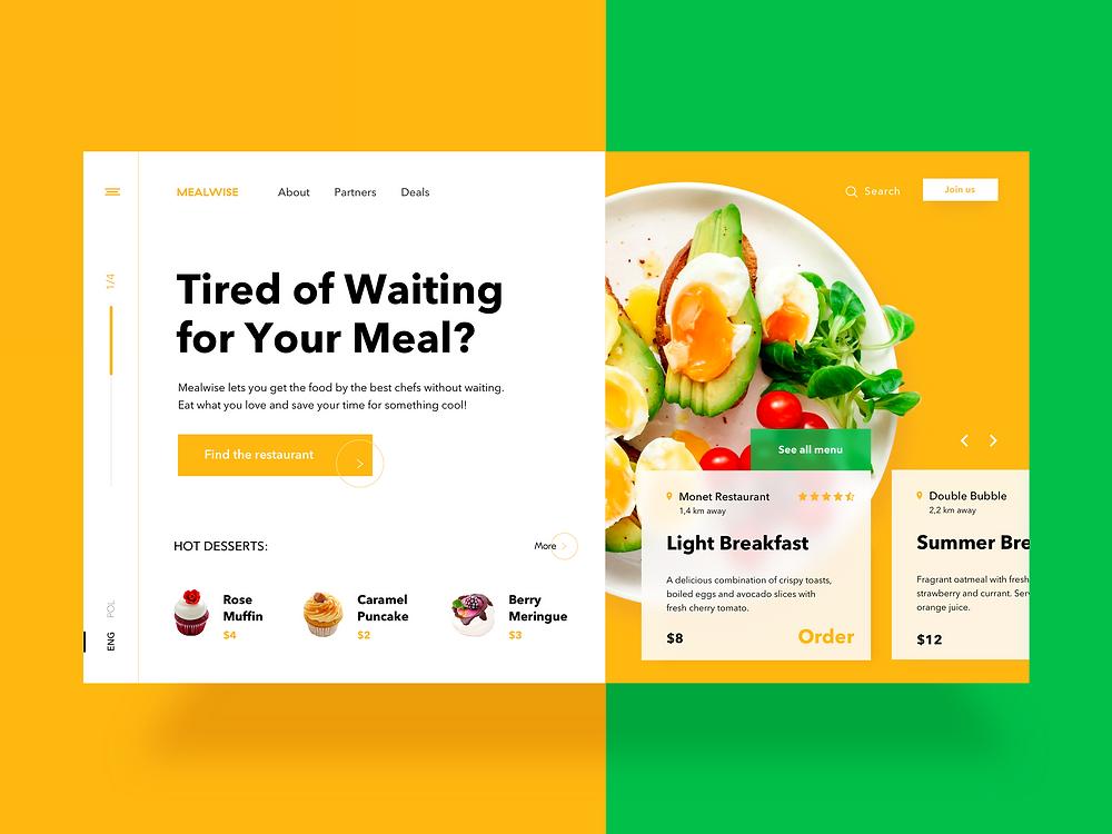 Food Order Website Design by Bella Agency