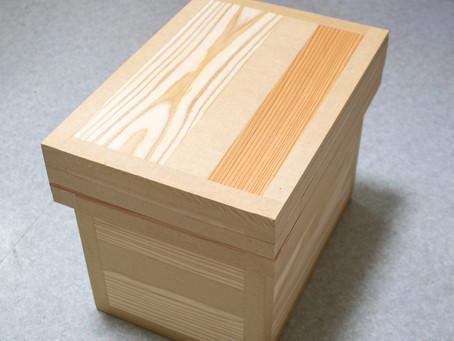 新品の茶箱にアンティーク加工を。