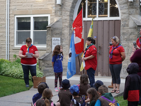 Moving Up! Kingston Centre celebrated youth moving up from Beavers to Cubs to Scouts and Ventures!