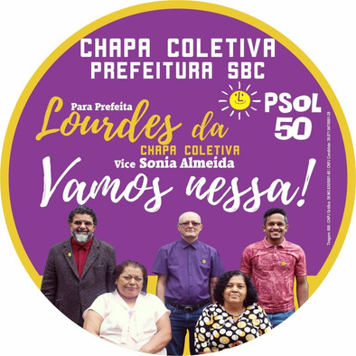 A Dra. Lourdes, Candidata da chapa coletiva do Psol/SBC participa de  sabatina.