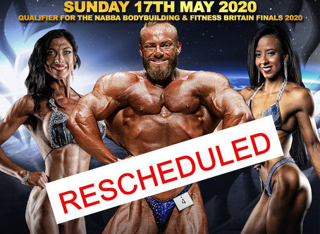 NABBA North East 2020 Poster