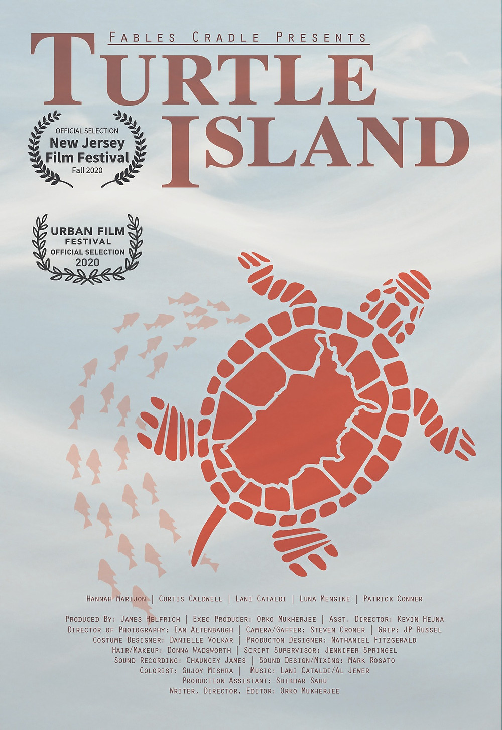 Illustration for Turtle Island poster.