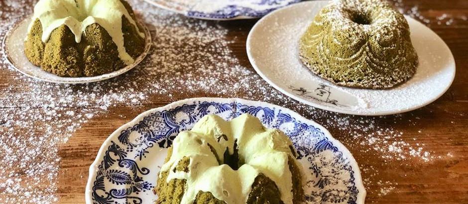 Bundt cake al tea matcha(senza lattosio)