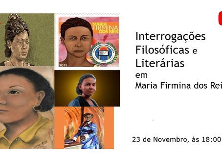 Live: Interrogações Filosóficas e Literárias em Maria Firmina dos Reis