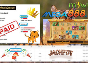Tiger Glory slot game get Jackpot to win RM3300 in Mega888