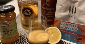 Turmeric Whiskey Coffee Sour