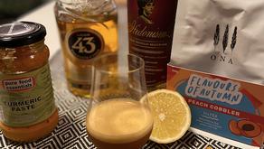 Turmeric Whiskey Coffee Sour