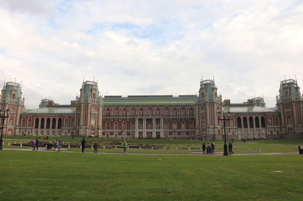 Tsaritsyno Museum Reserve view from the park, Moscow Russia