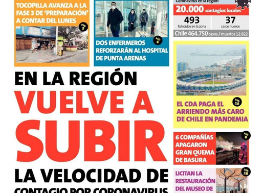 TITULARES DE LOS PRINCIPALES DIARIOS DE LA REGIÓN