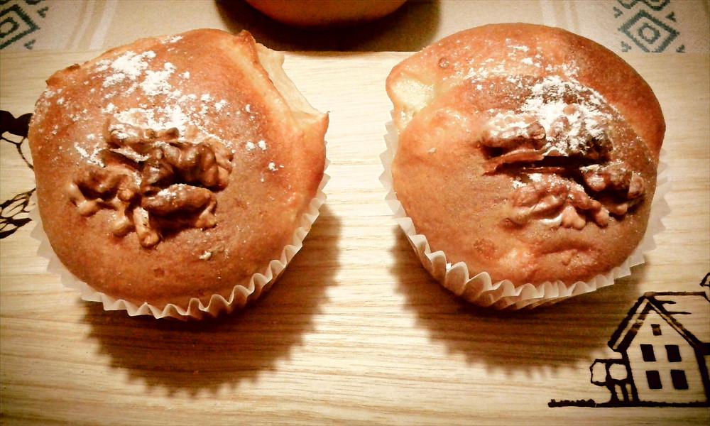 Muffin mele e arancia