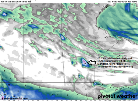 Berens River in Manitoba to see another 25cm or more of snow this weekend