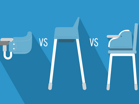 Hook-on High Chairs vs High Chairs vs booster seats.