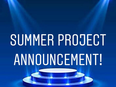 Summer Project Announcement!