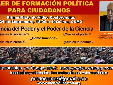 TALLER DE FORMACIÓN POLÍTICA PARA CIUDADANOS