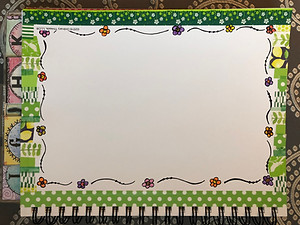 Flower template with washi tape border