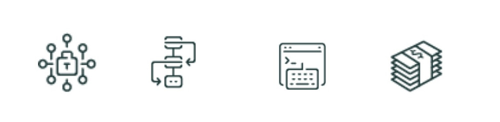 New icons for RISC Vision brand identity for value proposition