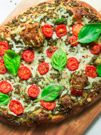 Basil Pesto Pizza Sauce - Vegan
