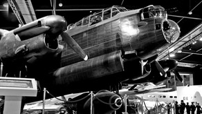The first flight of the Lancaster bomber