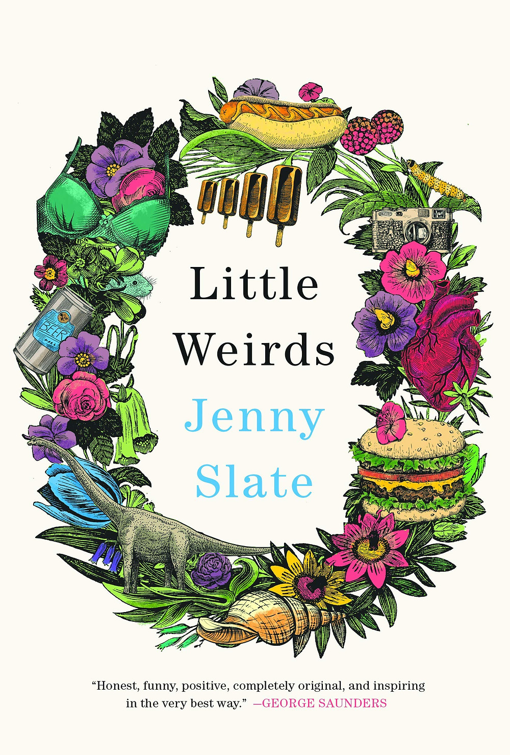 Little Weirds by Jenny Slate : the book slut book reviews thebookslut best floral book covers valentines day books