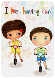 Happy Kids Affirmation Cards, Affirmations, Positive Affirmations for kids, I am card, I love having fun, mindfulness kids, mindfulness parents, mum and dad, best for kids, education