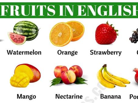 İngilizce Meyveler