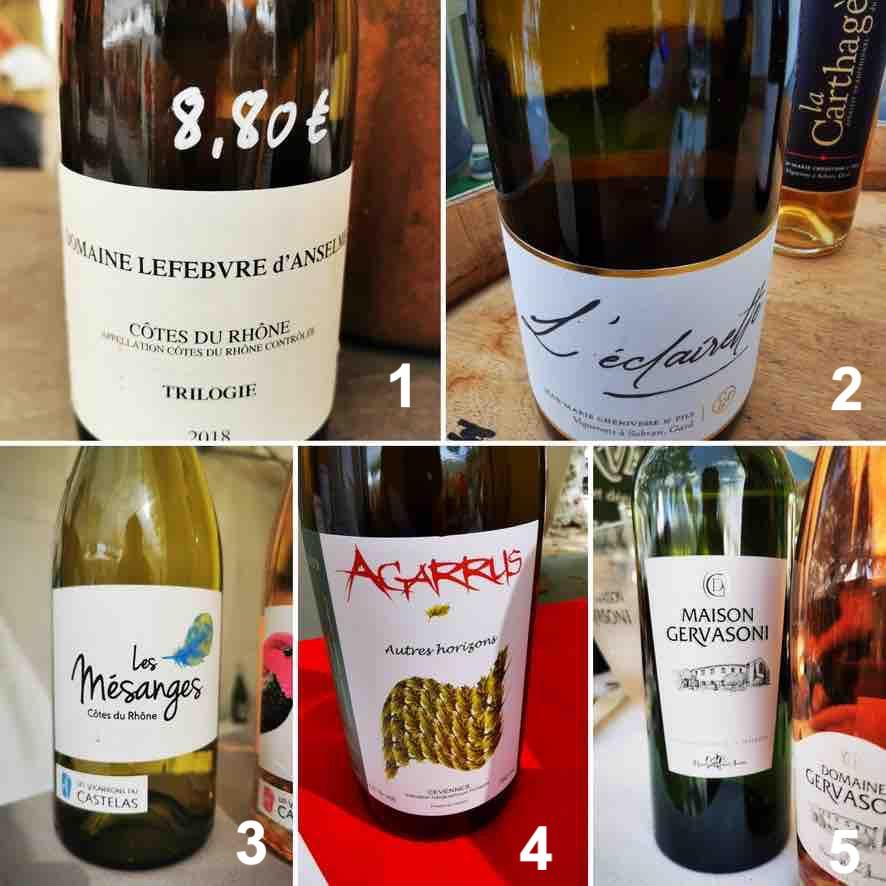 Selection - Vins - Blanc - Foire - Uzès - Vignerons - cuvée - Aggarus - Lefebvre d'Anselme - La Photo de Famille - Les vignerons du Castelas - Gervasoni