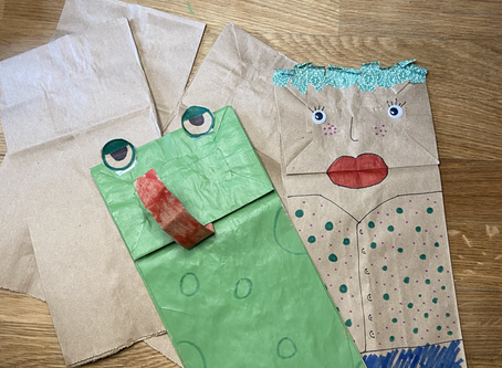 DIY: Brown Bag Puppets for Class