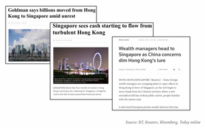 influx of funds to singapore from hong kong