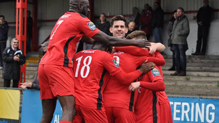 Post-match - victory over Potters Bar Town