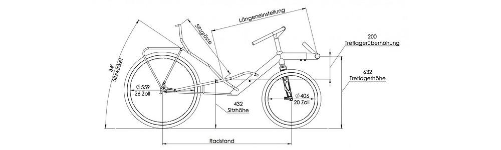 Un cadre de vélo couché c'est d'abord une géométrie adaptée
