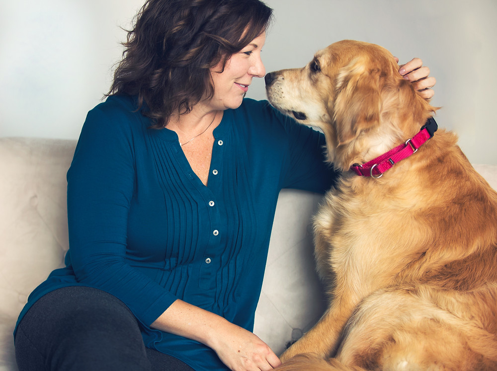 Angie Moe and Sunny the Therapy Dog | Photo Credit:  Brian K. Powers Photography