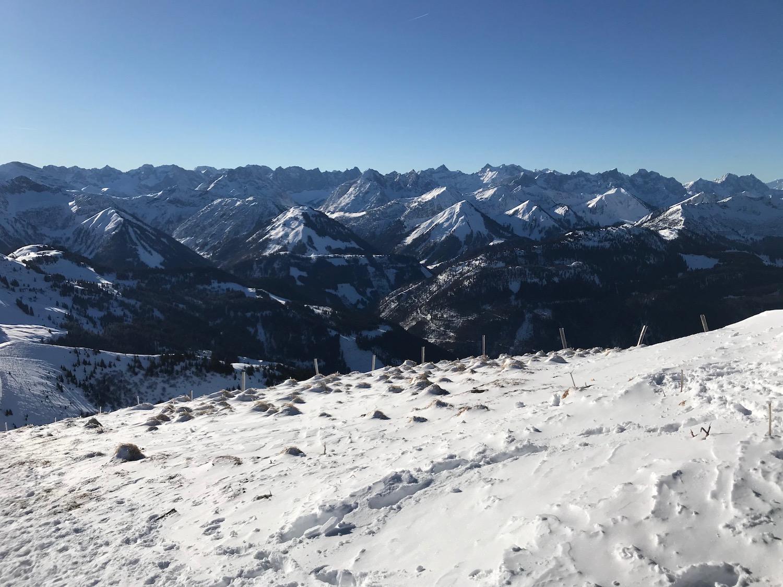 Blick zum Karwendel, Skitour Juifen Achenkirch