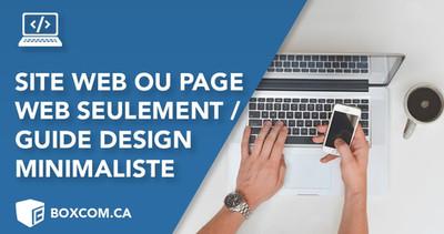 Guide design pour un site web d'une page, conception web à Québec
