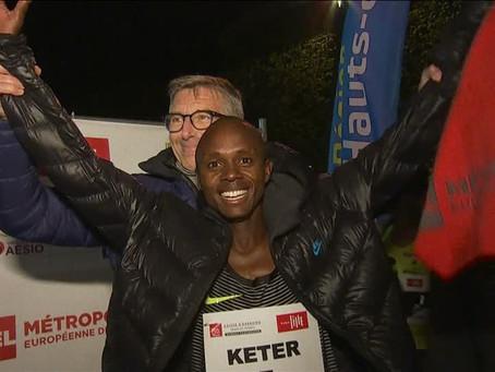 Queniano Robert Keter bate recorde mundial nos 5 km com pace de 2min40s/km na França
