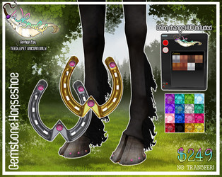 ::Whymsikal:: Gem Horse Shoes